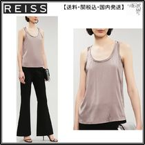 【海外限定】REISS ベスト☆Remey silk-satin and jersey vest