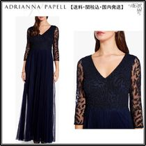 【海外限定】AdriannaPapellガウン☆Long Sleeve Beaded Gown