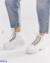 ★ASOS★Dash chunky hi top trainers in white croc【送関込】