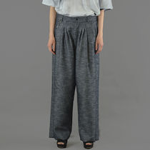 BLESS(ブレス) シャツ BLESS N°64 UNISEX ULTRA WIDE PLEATED TROUSERS DENIM BLUE