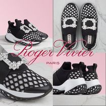 【Roger Vivier】Viv' Run Strass Buckle シューズ ブラック