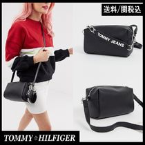【Tommy Hilfiger】Jeans cross body bag with mono logo 黒 ♪