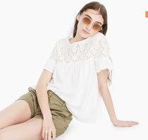 J.Crew*Eyelet top in vintage cotton*ひらひらトップス6色