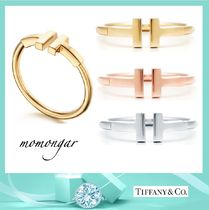 [Tiffany & Co.] Tiffany T Wire Ring☆18k gold/rose/white