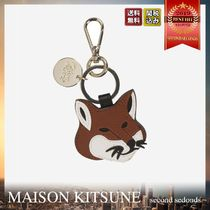 MAISON KITSUNE Leather Fox Head キーリング