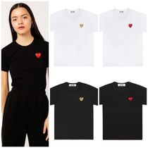 COMME des GARCONS(コムデギャルソン) Tシャツ・カットソー COMME des GARCONS PLAY プレイ ワンポイント ハートロゴTシャツ