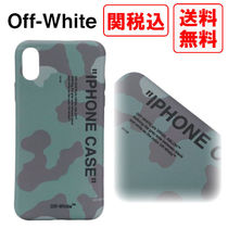 SALE! 関税・送料込 OFF-WHITE Quote Camou Iphone X カバー