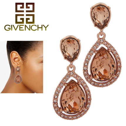 GIVENCHY ピアス 特価!GIVENCHY★  Stone & Crystal Teadrop Halo Drop ピアス