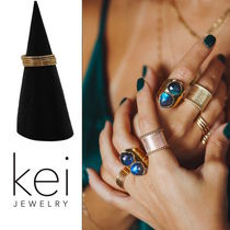 Kei Jewelry(ケイ ジュエリー) 指輪・リング 5個セットGold stackable リング【Kei Jewelry】14K