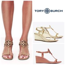 【SALE】Tory Burch★MILLER WEDGE SANDAL, LEATHER