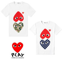 PLAY COMME des GARCONS(プレイコムデギャルソン) Tシャツ・カットソー 関送込 PLAY COMME des GARCONS★大人気ハートコットンTシャツ