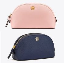 Tory Burch(トリーバーチ) メイクポーチ 【TORY BURCH】ROBINSON SMALL コスメポーチ ピンク&紺