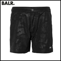 【BALR】DARK CAMO SWIM SHORTS BLACK