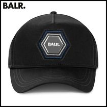 【BALR】Q-SERIES METAL HEXAGON BADGE CAP BLACK