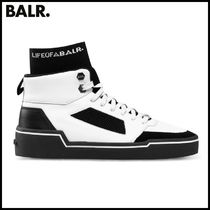 【BALR】MESH PANELLED HIGH-TOP SNEAKERS