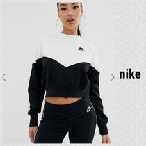 Nike Heritage Black And White Color Block Sweatshirt