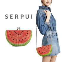 【送料関税込】Serpui Marie Watermelon Wicker クラッチ