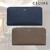 ★新生★【CELINE】LARGE ZIPPED WALLET IN CALFSKIN 関税込