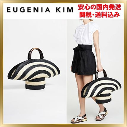 Eugenia Kim かごバッグ ◆Eugenia Kim◆帽子風 Stripe Flavia Tote Bag 【関税送料込】