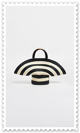 Eugenia Kim かごバッグ ◆Eugenia Kim◆帽子風 Stripe Flavia Tote Bag 【関税送料込】(2)
