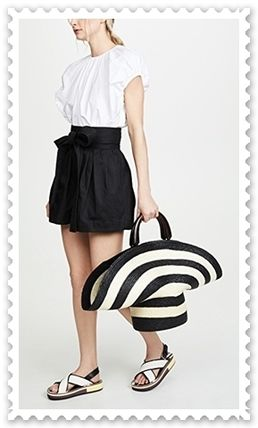 Eugenia Kim かごバッグ ◆Eugenia Kim◆帽子風 Stripe Flavia Tote Bag 【関税送料込】(6)