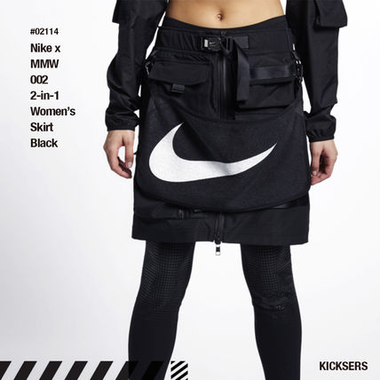 cced6a397 BUYMA|人気話題コラボ!Nike x MMW 002 2-in-1 Women's Skirt Black ...
