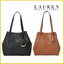 【Ralph Lauren】レザー トートバッグ LRL Huntley Leather Tote