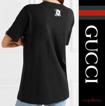 GUCCI Tシャツ・カットソー 【国内発送】GUCCI Tシャツ Oversized distressed printe Tshirt(2)