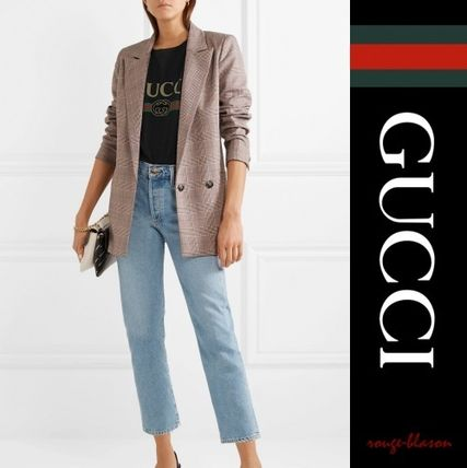 GUCCI Tシャツ・カットソー 【国内発送】GUCCI Tシャツ Oversized distressed printe Tshirt(3)