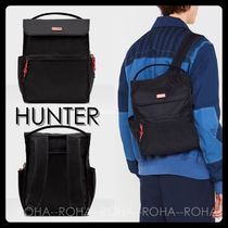 【HUNTER】新作!防水ナイロン リュックサック 黒 UK発