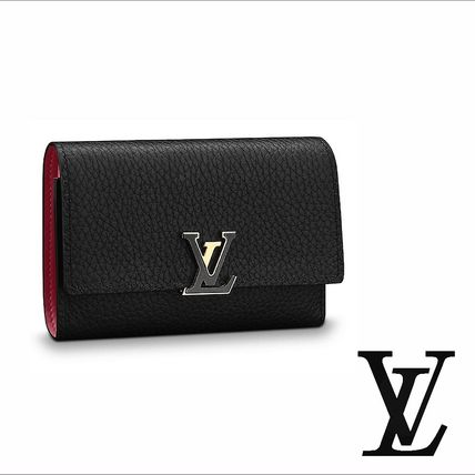 check out 76c45 6772e Louis Vuitton ポルトフォイユカプシーヌコンパクト財布