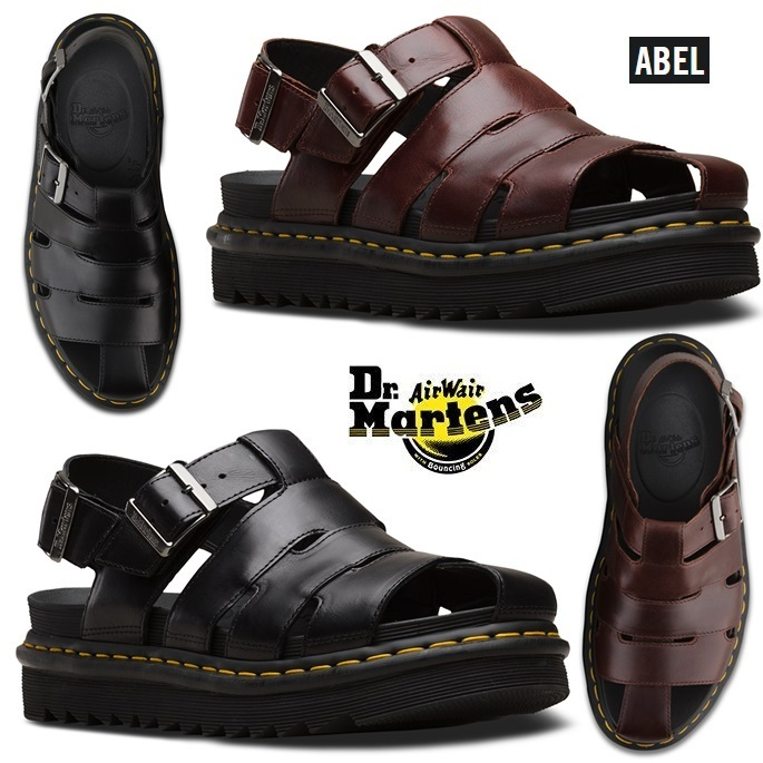 2018 shoes picked up where to buy Dr Martens 2019 SS Open Toe Platform Plain Leather Sport Sandals Sandals  (24522211, 24522001)