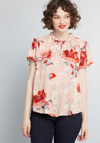 Absolutely Everything Floral Blouse