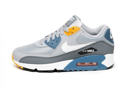 low priced 4595d c1518 ... Nike スニーカー Nike Air Max 90 Essential (Wolf Grey   Indigo) AJ1285 016(  ...