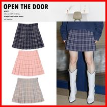 ☆人気☆【OPEN THE DOOR】☆Check Mini Tennis Skirt☆3色☆