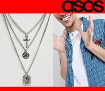 ★ASOS*Reclaimed V*新作*3連MIXペンダントネックレス