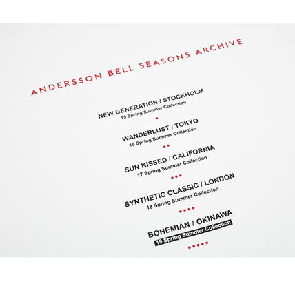 ANDERSSON BELL Tシャツ・カットソー ANDERSSON BELL正規品★シーズンアーチブロンT★UNISEX(17)