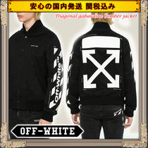 関送込国内発送★OFF WHITE★Diagonal gabardine bomber jacket