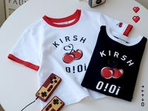 限定コラボ☆OIOI x KIRSH BIG LOGO CROP T-SHIRTS/全2色