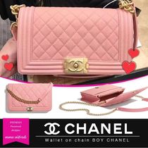 61b91f537eff CHANEL/シャネル☆Wallet on chain BOY CHANELクラッチバッグ