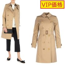 VIP価格!BURBERRY Trench Kensington medio in cotone miele♪