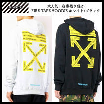 【OFFWHITE】大人気/日本完売/FIRE TAPEフーディ/パーカー/全2色