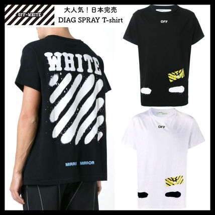 Off-White Tシャツ・カットソー 【OFFWHITE】大人気/日本完売/DIAGONALS SPRAY/Tシャツ/全2色