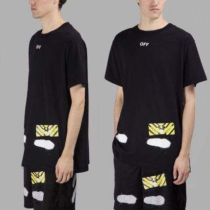 Off-White Tシャツ・カットソー 【OFFWHITE】大人気/日本完売/DIAGONALS SPRAY/Tシャツ/全2色(4)