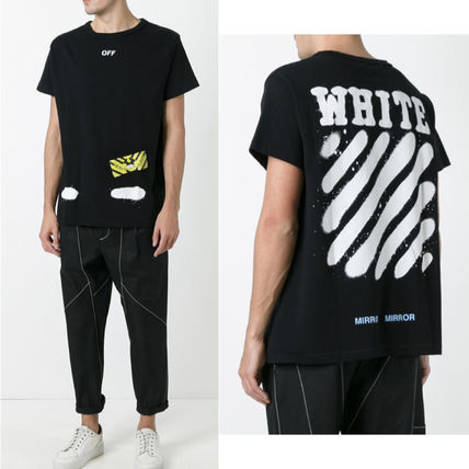 Off-White Tシャツ・カットソー 【OFFWHITE】大人気/日本完売/DIAGONALS SPRAY/Tシャツ/全2色(8)