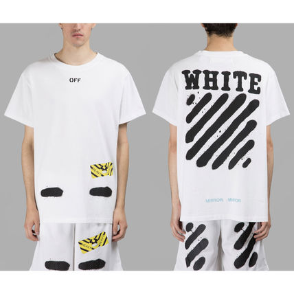 Off-White Tシャツ・カットソー 【OFFWHITE】大人気/日本完売/DIAGONALS SPRAY/Tシャツ/全2色(10)
