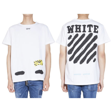 Off-White Tシャツ・カットソー 【OFFWHITE】大人気/日本完売/DIAGONALS SPRAY/Tシャツ/全2色(11)