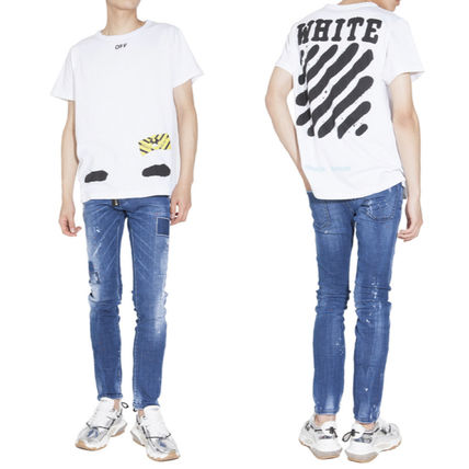 Off-White Tシャツ・カットソー 【OFFWHITE】大人気/日本完売/DIAGONALS SPRAY/Tシャツ/全2色(12)