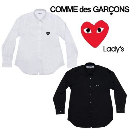 ☆COMME des GARCONS☆Lady's ブラックハートロゴシャツ