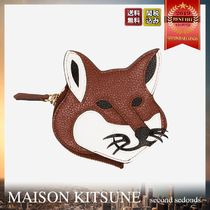 MAISON KITSUNE Leather Fox Head コインパース